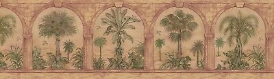 "29577 Palm Tree in Arches 15' x 7"" Pre-Pasted Wallpaper Border"