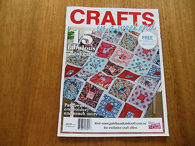 Crafts In A Weekend Magazine (2015) - Good Condition -