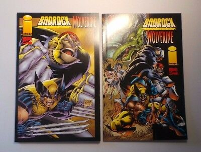 Lot of 2 Badrock / Wolverine Graphic Novels Different Variants NM-