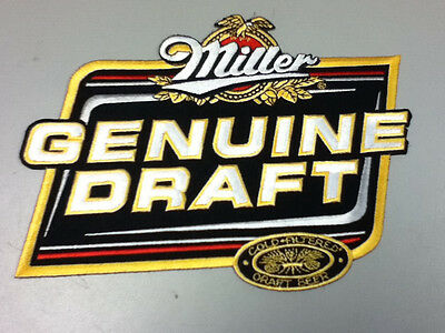 """Miller Genuine Draft large back patch 8"""" X 6""""embroidered driver patches race SU7"""
