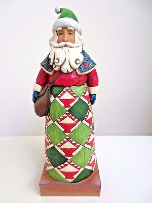 "Jim Shore ""HOLIDAY MESSAGE"" Heartwood Creek Santa Christmas Figurine 4010847 8"""