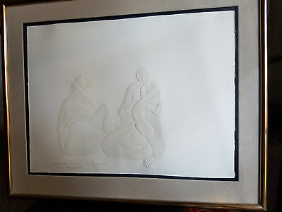 "R.C. Gorman/ Ed Morgan Cast Paper signed ""Spring Celebration"" Exquisitely Framed"