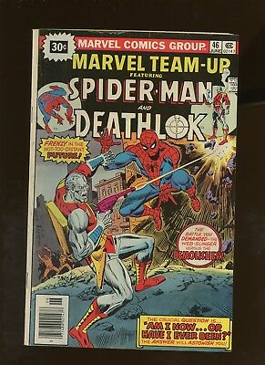 Marvel Team-Up 46 VG/FN 5.0 * 1 Book * ¢30 Price Variant! Spider-Man! Deathlok!
