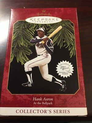 Hank Aaron 1997 Hallmark Keepsake Ornament At The Ballpark Braves New In Box