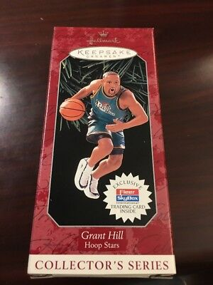 Grant Hill Hoop Stars Hallmark Keepsake Ornament New In Box Pistons 1998