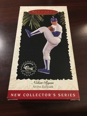 Texas Rangers Nolan Ryan Hallmark Keepsake Ornament 1996 At The Ballpark