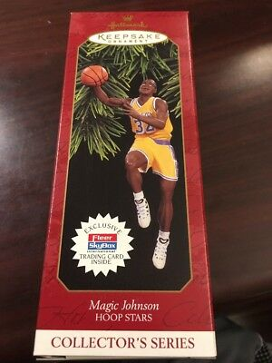 Magic Johnson Hoop Stars Hallmark Keepsake Ornament New In Box L.a. Lakers 1997