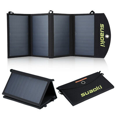 Suaoki 25W Solar Panel Charger Dual-Port Portable Charger with TIR-C Technology