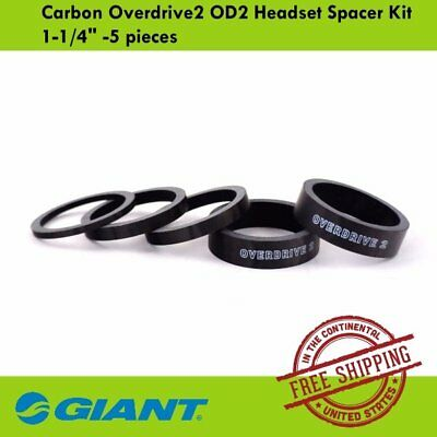 "GIANT Carbon Overdrive2 OD2 1-1/4"" Bike Bicycle Headset Spacer Kit -5 pieces"