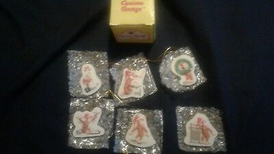 6 Curious George christmas ornaments decorations RARE