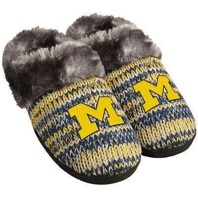 Michigan Wolverines Slippers Logo NEW Womens Slide House shoes! Peak Slide