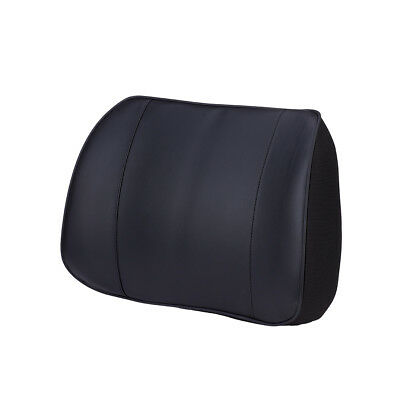 PU Leather Lumbar Lower Back Pillow Support Cushion Home Office Car Seat Chair