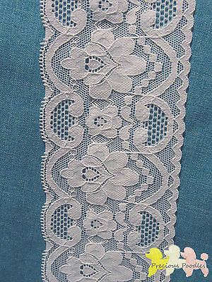 White Stretch Lace 75 mm Lovely Floral Pattern Top Quality Headbands all Crafts