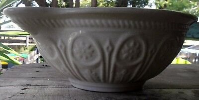 early 1900's stoneware pudding mixing bowl....very large 2.3kg & 31cm diameter