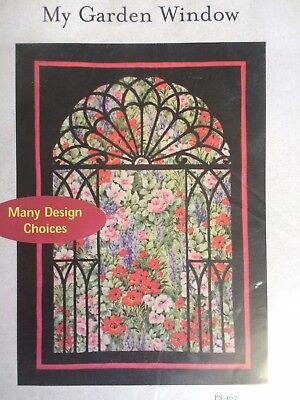 My Garden Window - Stained Glass Easy Quilt - Pattern Only - Free Postage