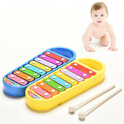Kids Baby Musical Instrument 8-Note Xylophone ToyWisdom Development Gift Toys UQ