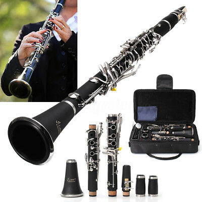 LADE NEW Bb CLARINET BLACK WITH CASE SCHOOL STUDENT QUALITY REEDS CASE BLACK
