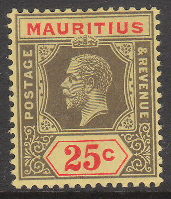 MAURITIUS 1913 1921 #199c MINT GV STAMP Die 1 on pale yellow wmk MCA
