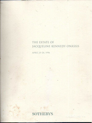Estate of Jacqueline Kennedy Onassis Sotheby's Catalog 1996