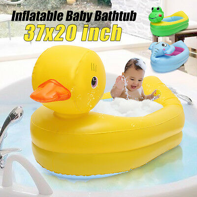 AU Inflatable Float Safety Baby Bath Tub Showr Kid Travel Floating Swimming Pool
