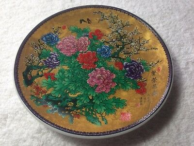 Rare Antique Chinese Porcelain Famille Rose Plates Signed
