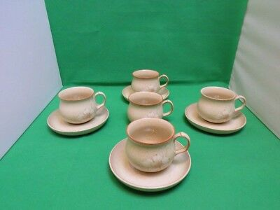 Denby Daybreak 5 x Tea Cups & 4 x Saucers