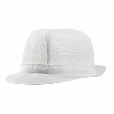 Womens Ladies Trilby Hat With Net Snood Lightweight Kitchen Catering Staff Cap