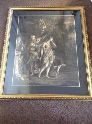Large Fine 18th Century 1700s Old Master sepia Watercolour Drawing Classical