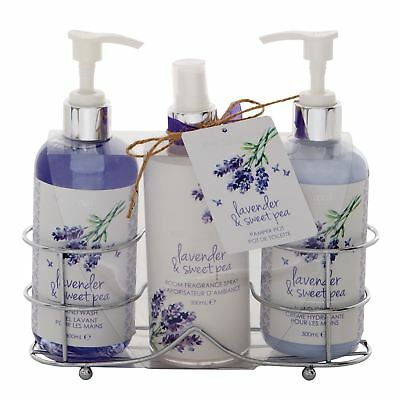 Body Collection Lavender & Sweet Pea Bath And Body Set Toiletry Pamper Kit Xmas