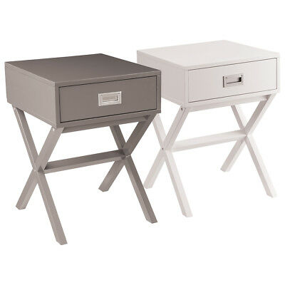 Charles Bentley Retro Side Table/Bedside Table MDF Bedroom Furniture 3 Colours
