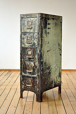 Industrial File Cabinet, Authentic SteamPunk, Mid Century