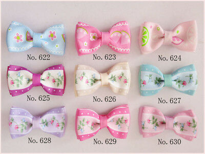 "200 BLESSING Good Girl Boutique 2"" Double Bowknot Hair Bow Clip Accessories"