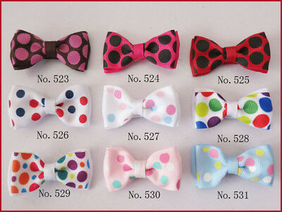 "500 BLESSING Good Girl Boutique 2"" Double Bowknot Hair Bow Clip Accessories"