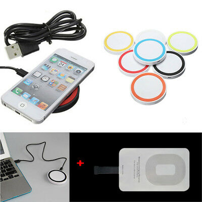 Universal Qi Wireless Charger Power Charging Receiver Kit For iPhone 7 7Plus 6 5