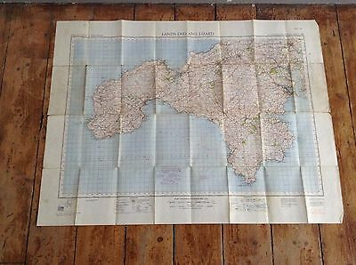 G.s.g.s Vintage Os Map Lands End And The Lizard Sheet 146 Fifth Edition
