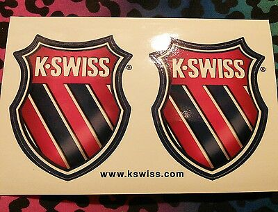 K-Swiss stickers, set of 2 on a sheet