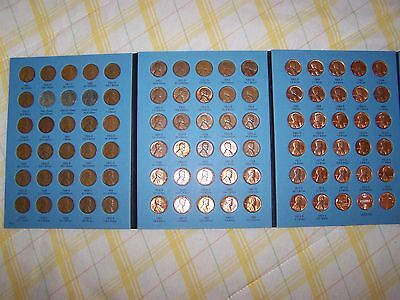 COMPLETE WHITMAN BOOK of LINCOLN CENTS 1941-1974 P,D,S MINT w/ BU WHEAT CENT