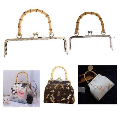 Vintage Metal Purse Frame Kiss Clasp For Purse Bag Bamboo Handle DIY Accessories