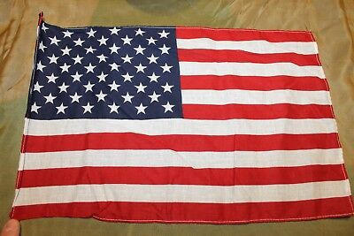 "Original Vietnam War Era U.S. National 50 Star Printed Cloth Flag, 16"" by 10"""