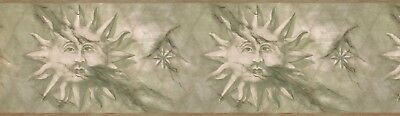 "63296520 Diamond Sun Face 15 'x 7"" Pre-Pasted Wallpaper Border"