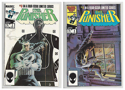 THE PUNISHER 3 & 4 1ST SERIES (1 LIMITED SERIES) Marvel NETFIX 1986 VF+ TO VF/NM