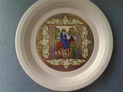 Hornsea Pottery Holy Child Christmas 1980 Plate Boxed