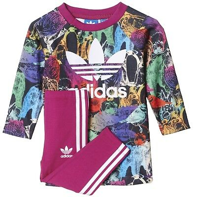 Adidas Originals Infant Baby Girls Top & Pants Outfit Tracksuits