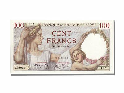[#11880] France, 100 Francs, 100 F 1939-1942 ''Sully'', 1942, KM #94