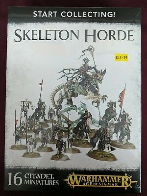 Warhammer AOS Start Collecting: Skeleton Horde - BNIB - Free White Dwarf