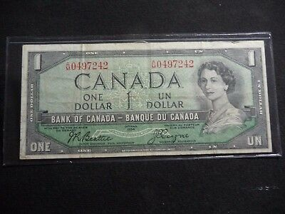 1954 One Dollar Bank Of Canada Note  K-24-17