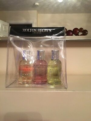 Molton Brown 3 x 50ml Body Wash Shower Gel Gift Set NEW