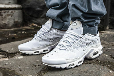Nike Air Max Plus TN Tuned White Cool Grey Rare Sample 604133-139 DOUBLE BOXED