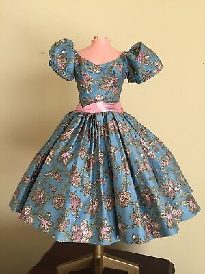 Madame Alexander Vintage Cissy HTF Tagged Blue Bird Dress 1958