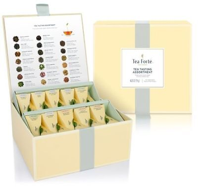 TEA FORTÉ FORTE Organic Mix Tasting Assortment Chest GeschenkBox 40 Pyramide Tee